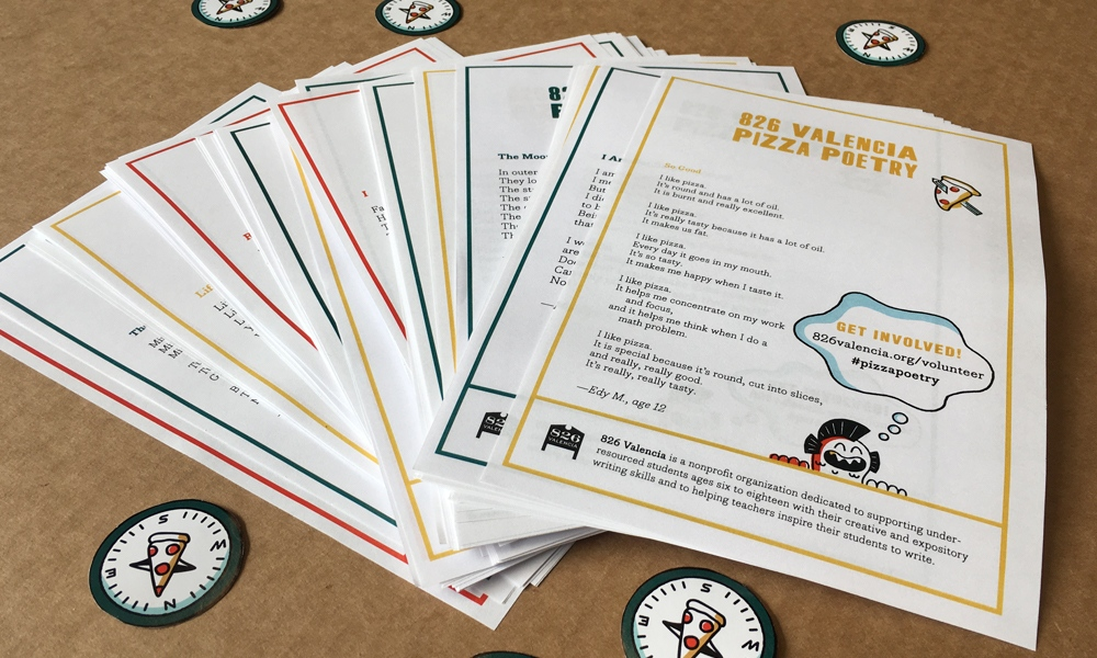Announcing 826 Valencia's Pizza Poetry Project - 826 Valencia