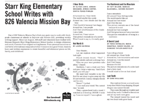Starr King students featured in the Potrero View